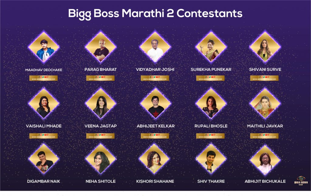 bigg boss marathi 2 contestants infographic