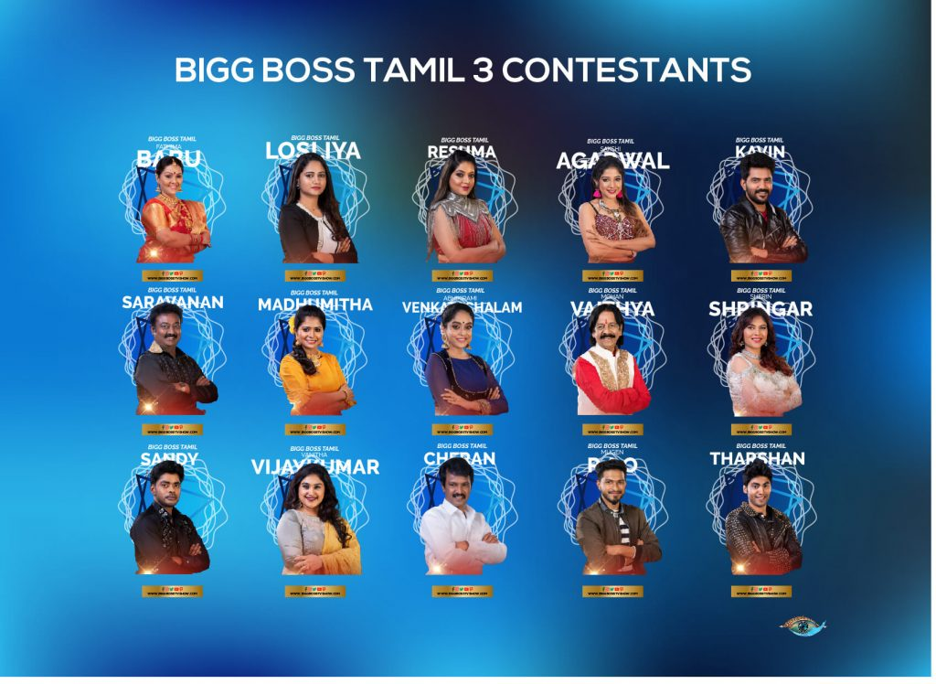 bigg boss tamil 3 contestants infpgraphic