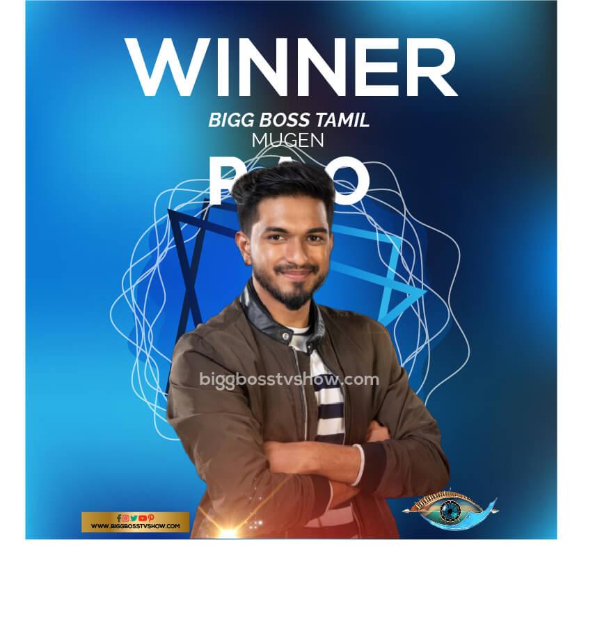 mugen rao winner bigg boss tamil 3