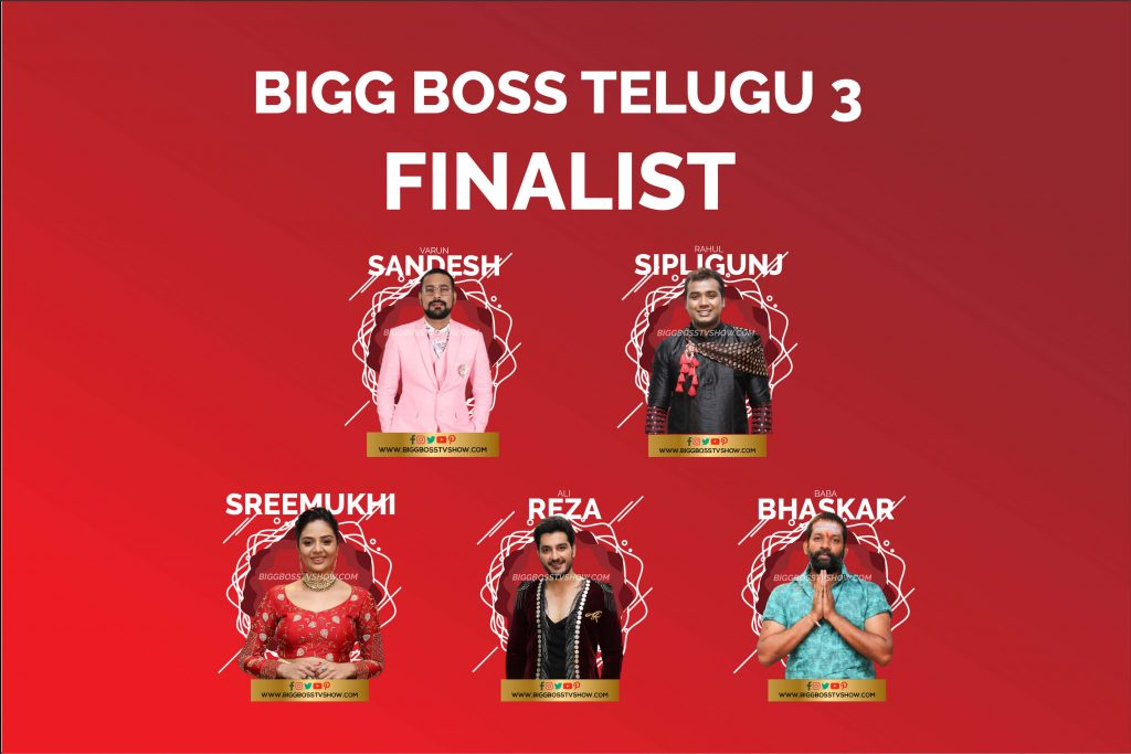 Bigg boss telugu 3 finalist