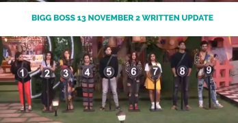 bigg boss 13 november 2 written update