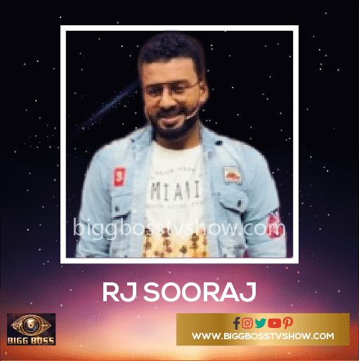 Bigg Boss Malayalam 2 Contestants RJ Sooraj