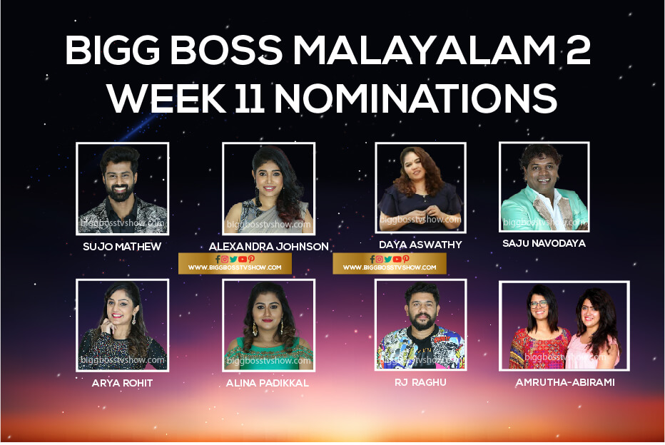 Bigg Boss Malayalam 2 week 11 nominations