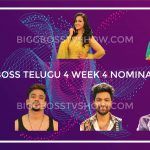 BIGG BOSS TELUGU 4 WEEK 4 NOMINATIONS