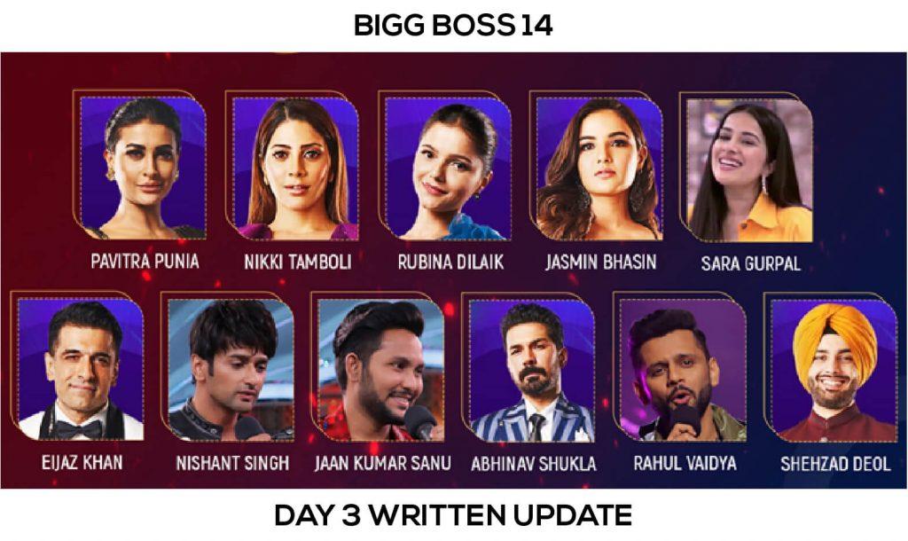 Bigg Boss 14 Day 3 Written Update