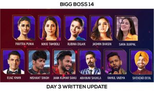 Bigg Boss 14 Day 3 Written Update