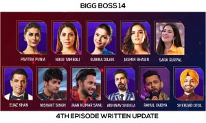 bigg boss 14 4th episode written update
