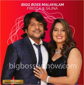 bigg boss malayalam 3 contestant firoz K & Sajna